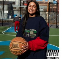 "Princess Nokia holding a basketball on the cover of ""1992"""