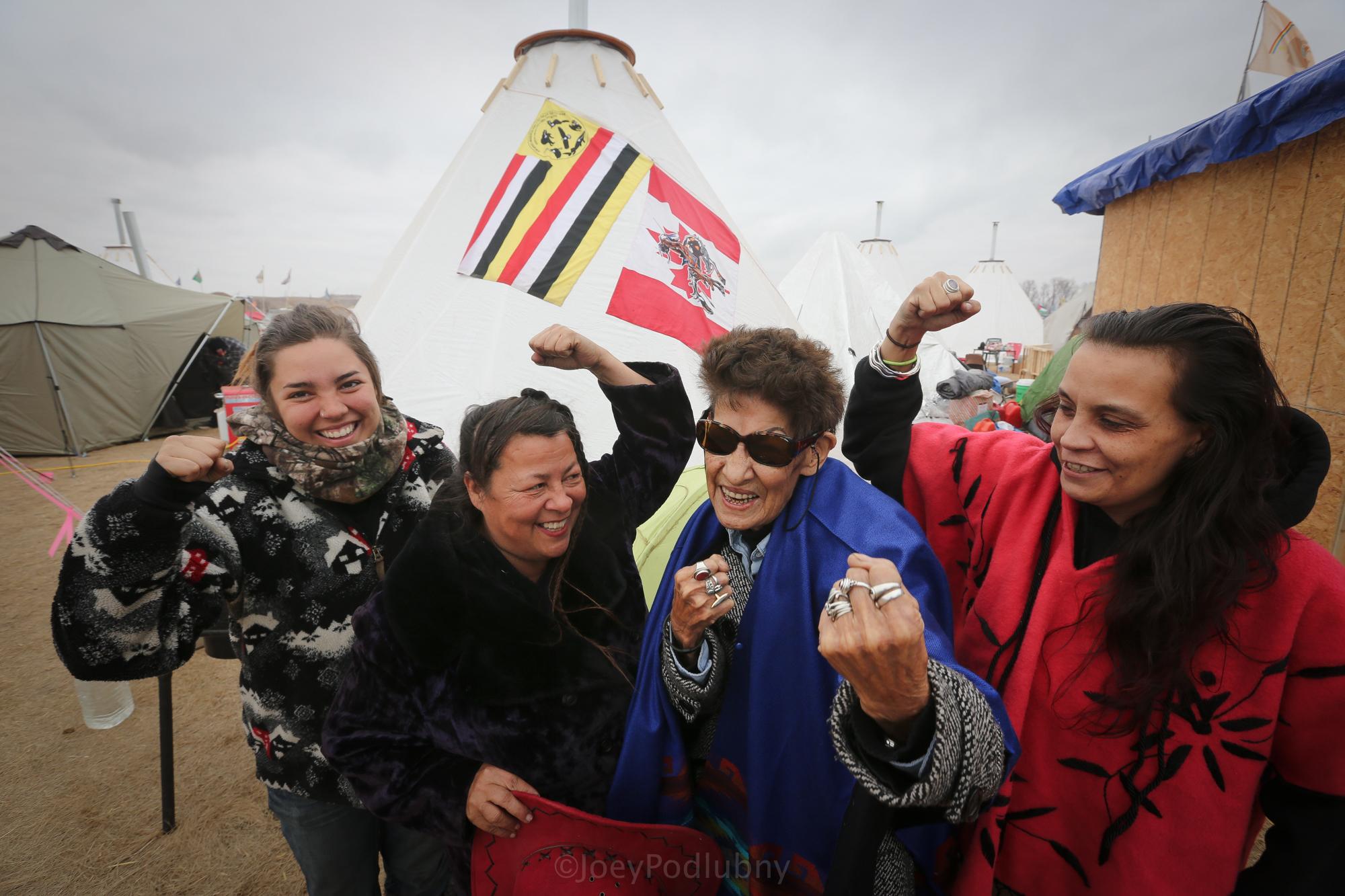 Activists at the Oceti Sakowin Camp