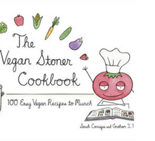 "Book cover for ""The Vegan Stoner Cookbook"""
