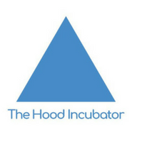 "Triangle with the words ""The Hood Incubator"""