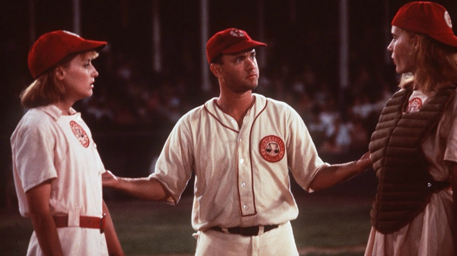 Geena Davis and Lori Petty in A League of Their Own