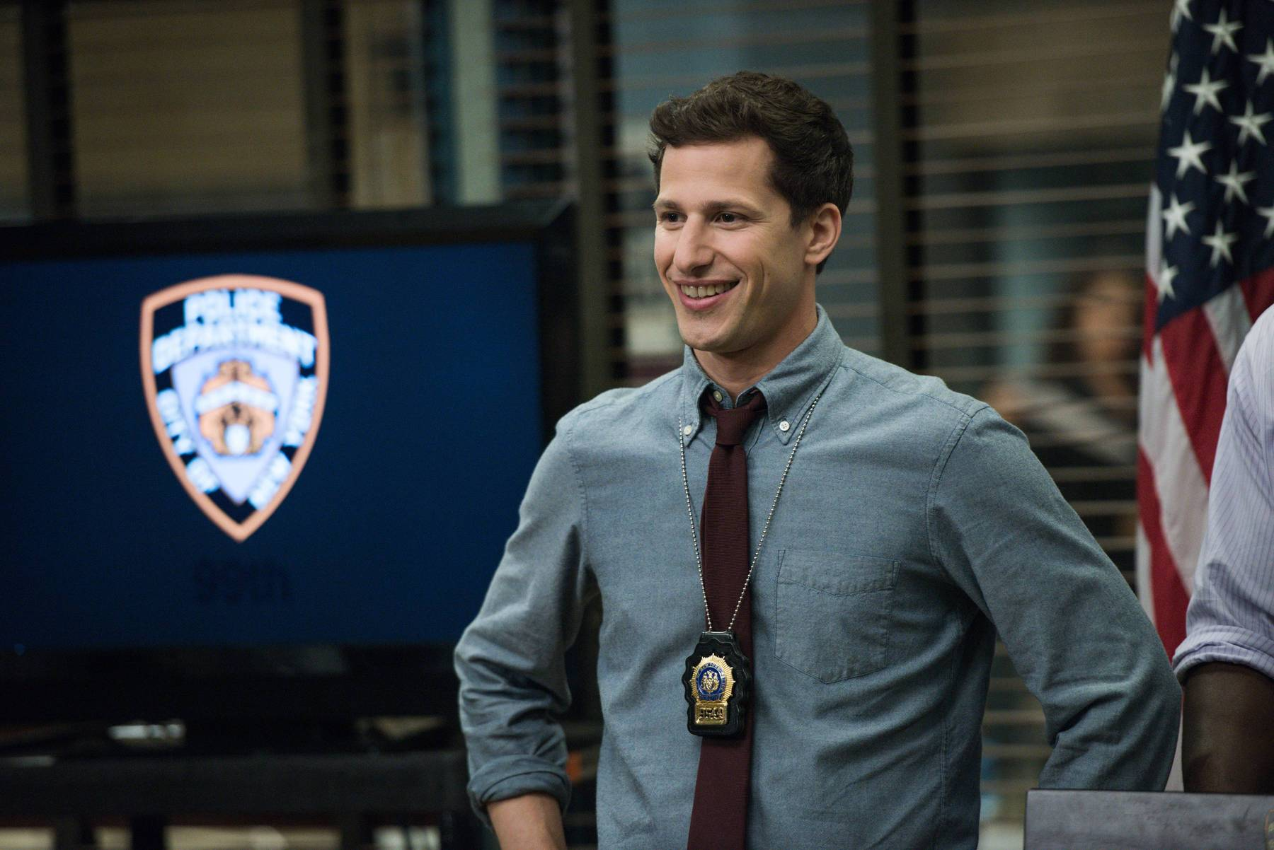 a white man plays a police officer on Brooklyn Nine-Nine