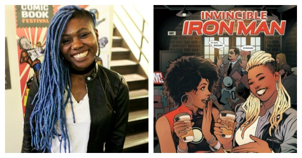 Ariell Johnson and Invincible Ironman cover