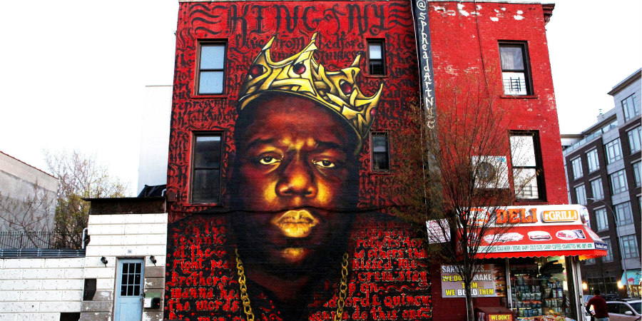 Brooklyn's Notorious BIG mural