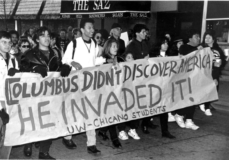 Columbus Day march