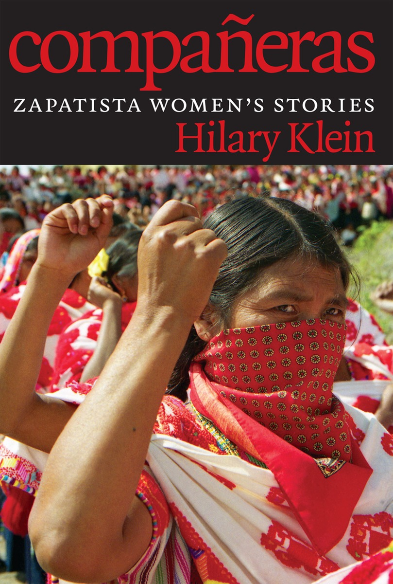 a black book cover with a red headline and a woman with a red handkerchief over her mouth