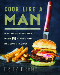a book cover with a cheeseburger stabbed by a steak knife