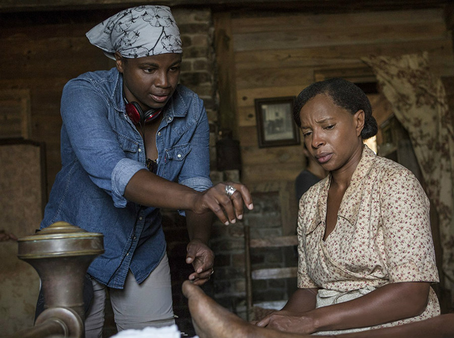 Dee Rees and Mary J. Blige in Mudbound