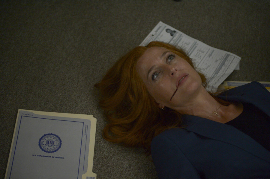 Gillian Anderson as Agent Dana Scully in the My Struggle III episode of The X-Files