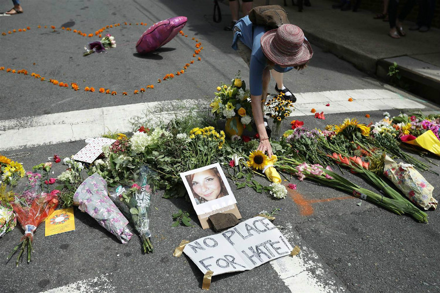 Heather Heyer memorial in Charlottesville
