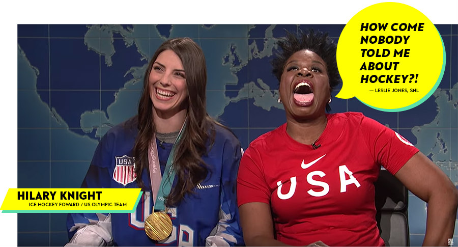 Hilary Knight and Leslie Jones on Saturday Night Live