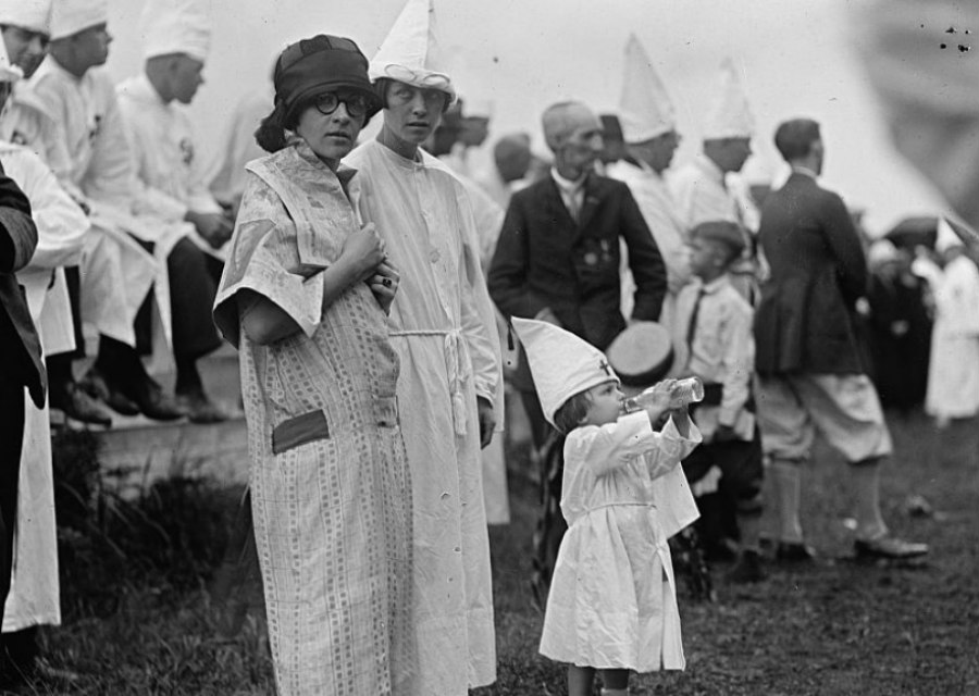 Jane Snyder at a Ku Klux Klan service in 1925