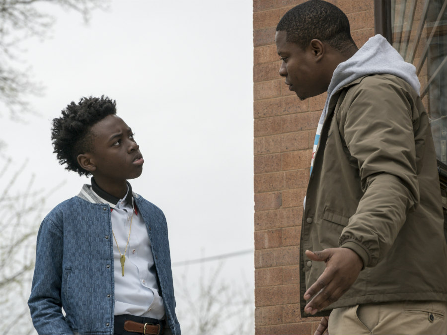 Jason Mitchell as Brandon Johnson and Alex R. Hibbert as Kevin Williams in The Chi