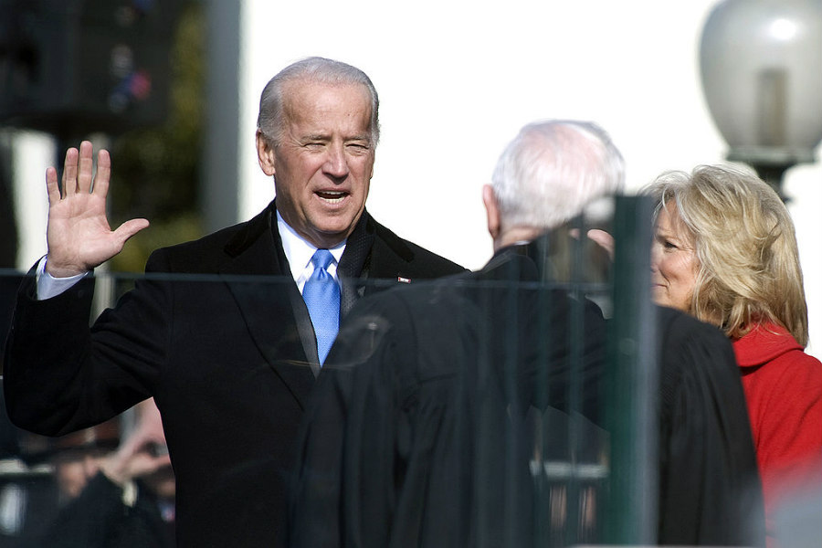 Joe Biden being sworn in as Vice President of the United States on January 20, 2009