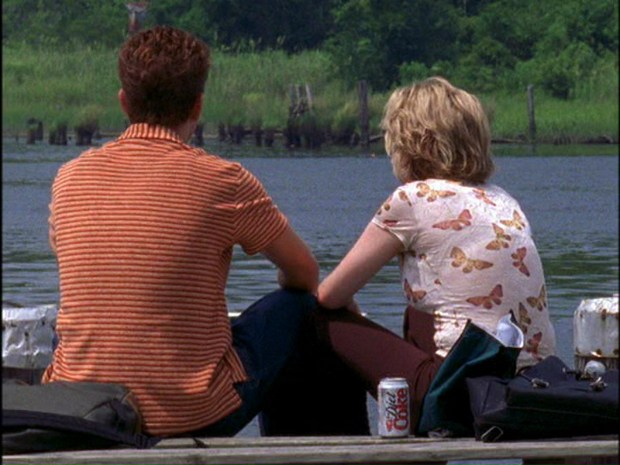 Joshua Jackson as Pacey and Michelle Williams as Jen in Dawson's Creek
