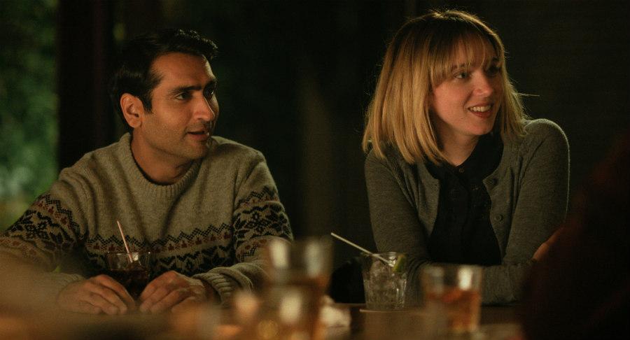 Kumail Nanjiani as Kumail and Zoe Kazan as Emily in The Big Sick
