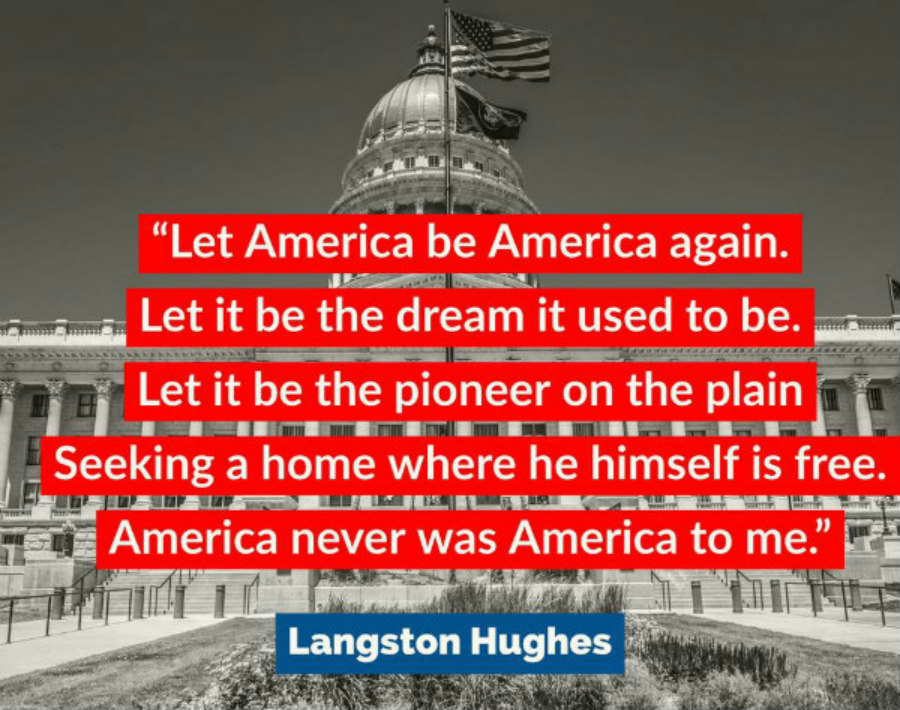 Langston Hughes America Was Never America To Me poem