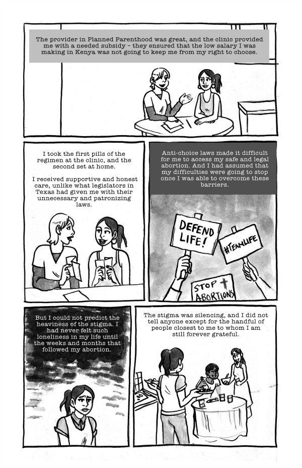MJ Flores in Comics for Change