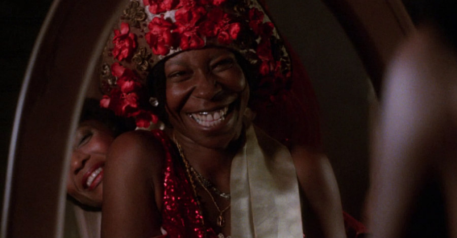 Margaret Avery as Shug and Whoopi Goldberg as Celie in The Color Purple