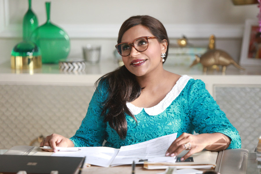Mindy Kaling as Mindy Lahiri on The Mindy Project