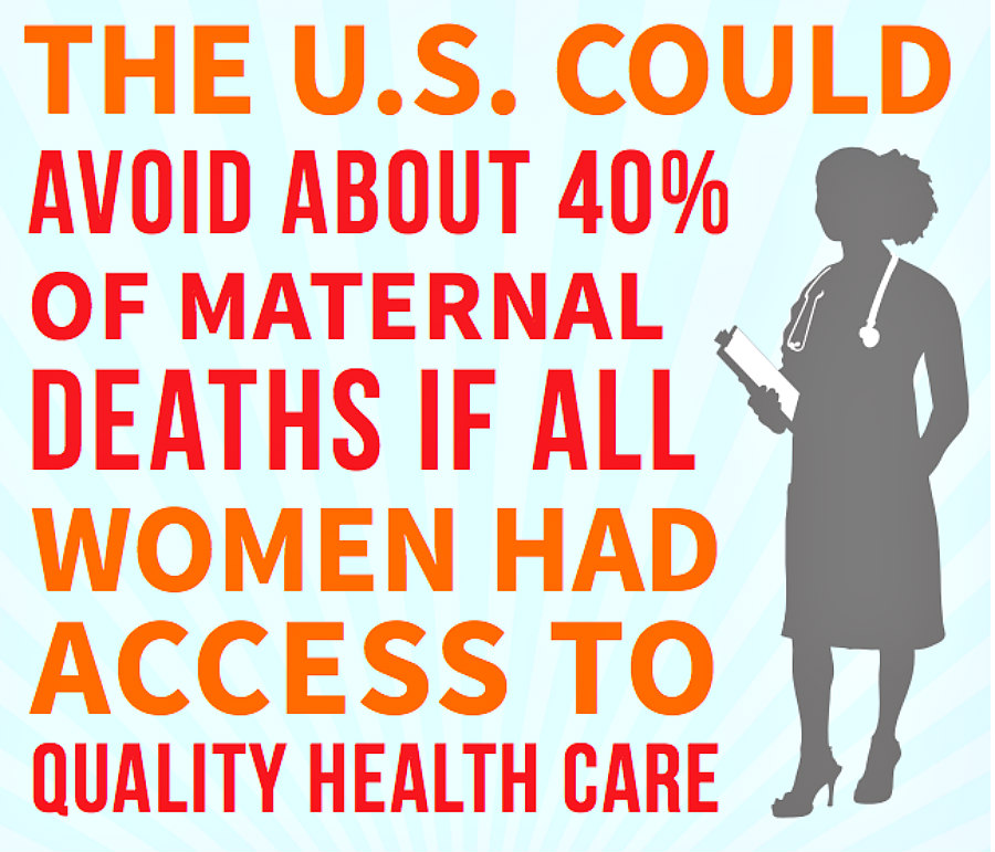 MomsRising factoid about maternal mortality