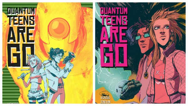 Quantem Teens comic book covers