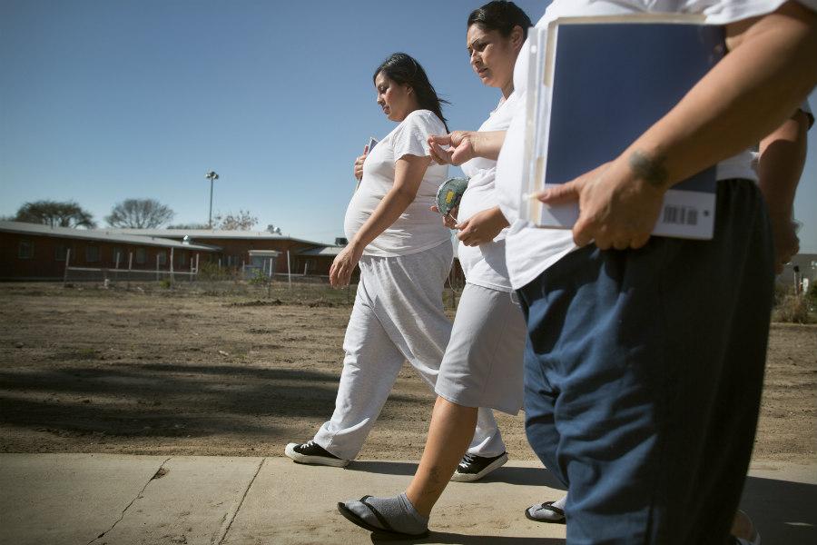 Regina Zodiacal pregnant at the California Institution for Women in Chino, California