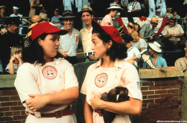 Rosie ODonnell and Madonna in A League of Their Own