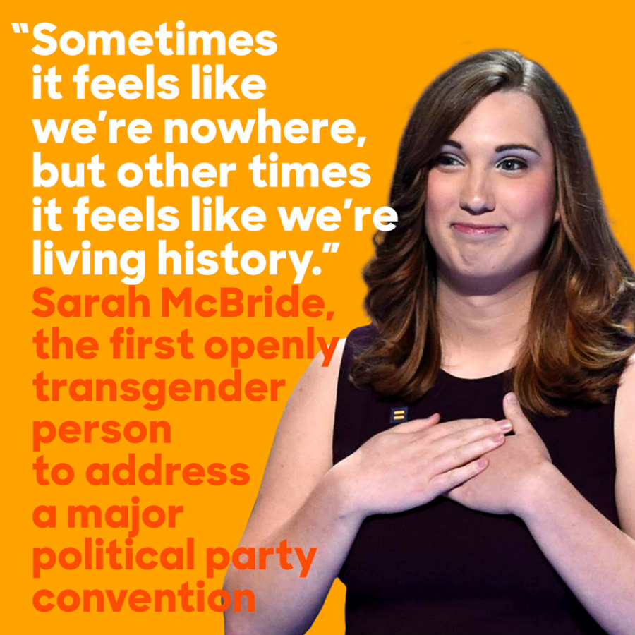 Sarah McBride at the Democratic National Convention
