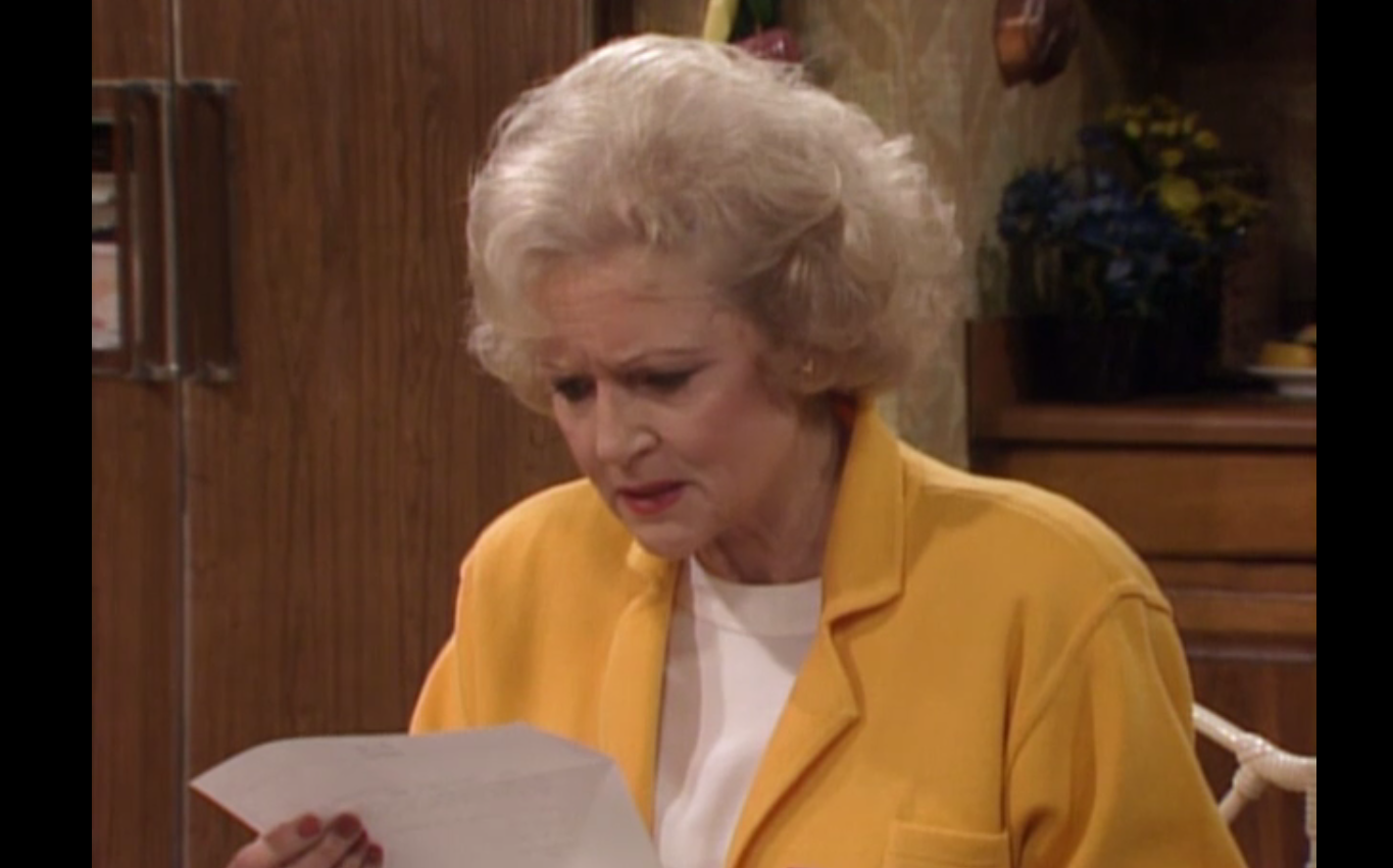 The Golden Girls read the results of a blood test that says Rose may have HIV