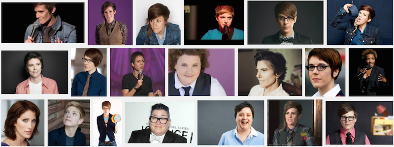 a google search of lesbian comedian turns up four images of cameron esposito in the top six hits