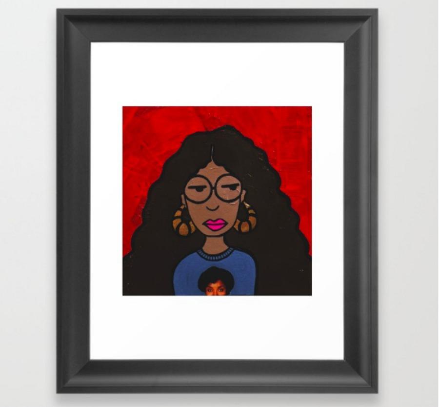 Black Daria print