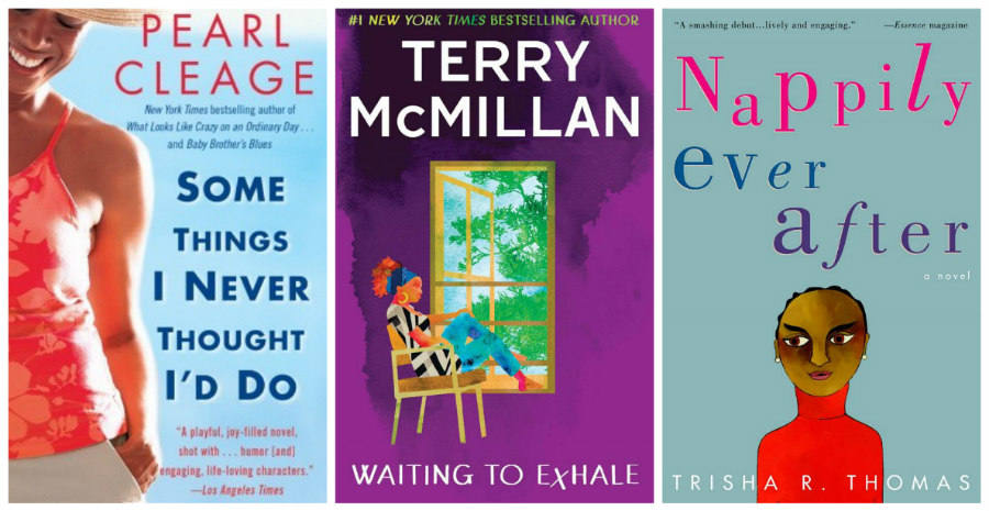 Some Things I Never Thought I'd Do, Nappily Ever After, and Waiting to Exhale book covers