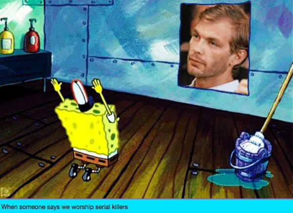 Spongebob worshipping Jeffrey Dahmer