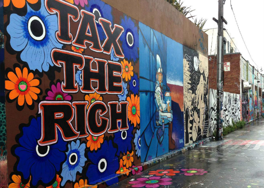 Tax the Rich mural in San Francisco
