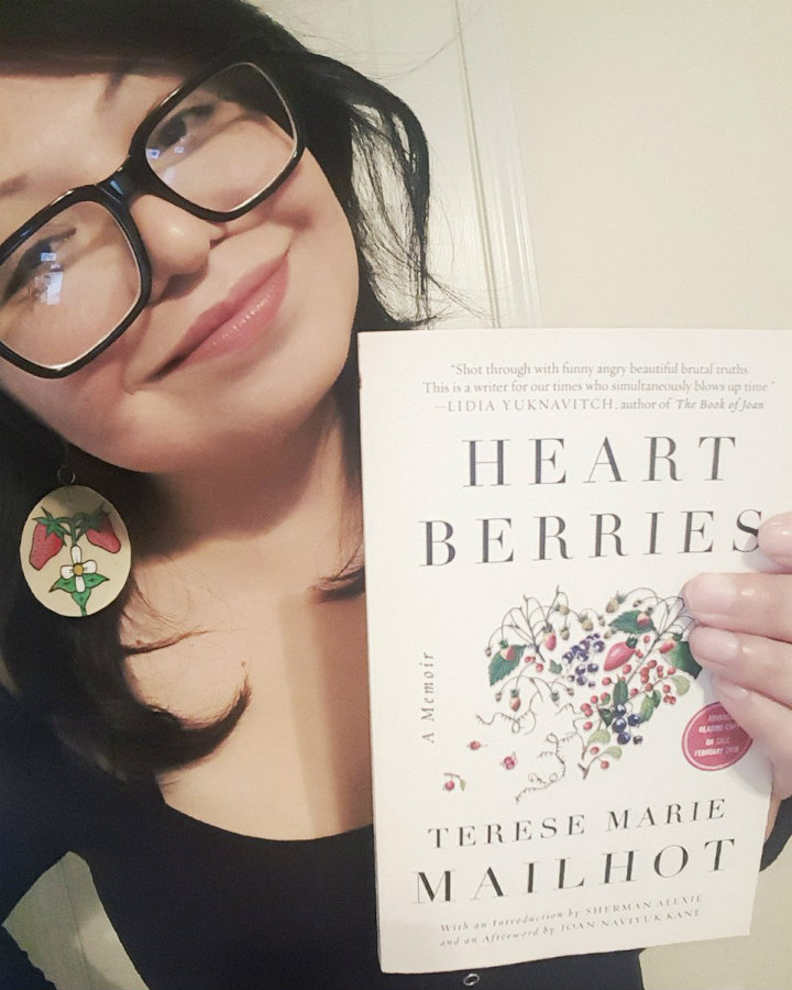 Terese Mailhot holding Heart Berries