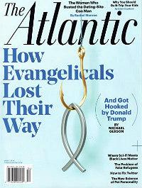 a blue magazine cover