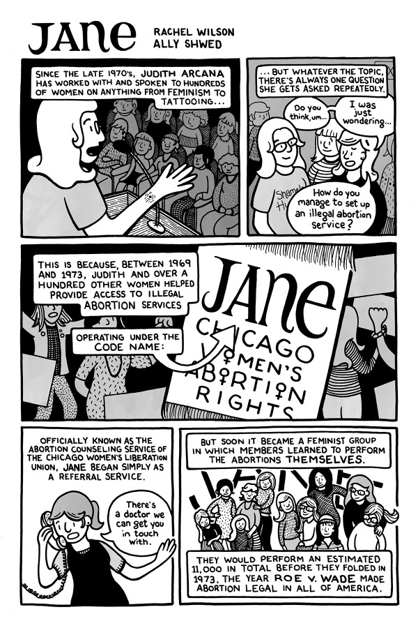 The Jane Collective from Comics for Choice