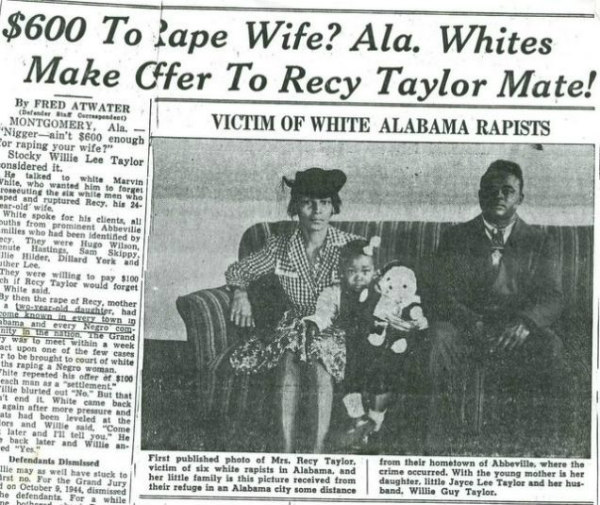 The Rape of Recy Taylor newspaper image