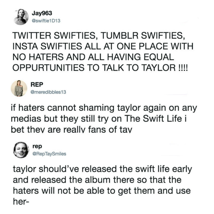 The Swift Life fans