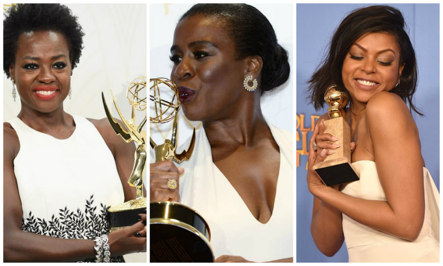 Viola Davis, Uzo Aduba, and Taraji P. Henson winning awards
