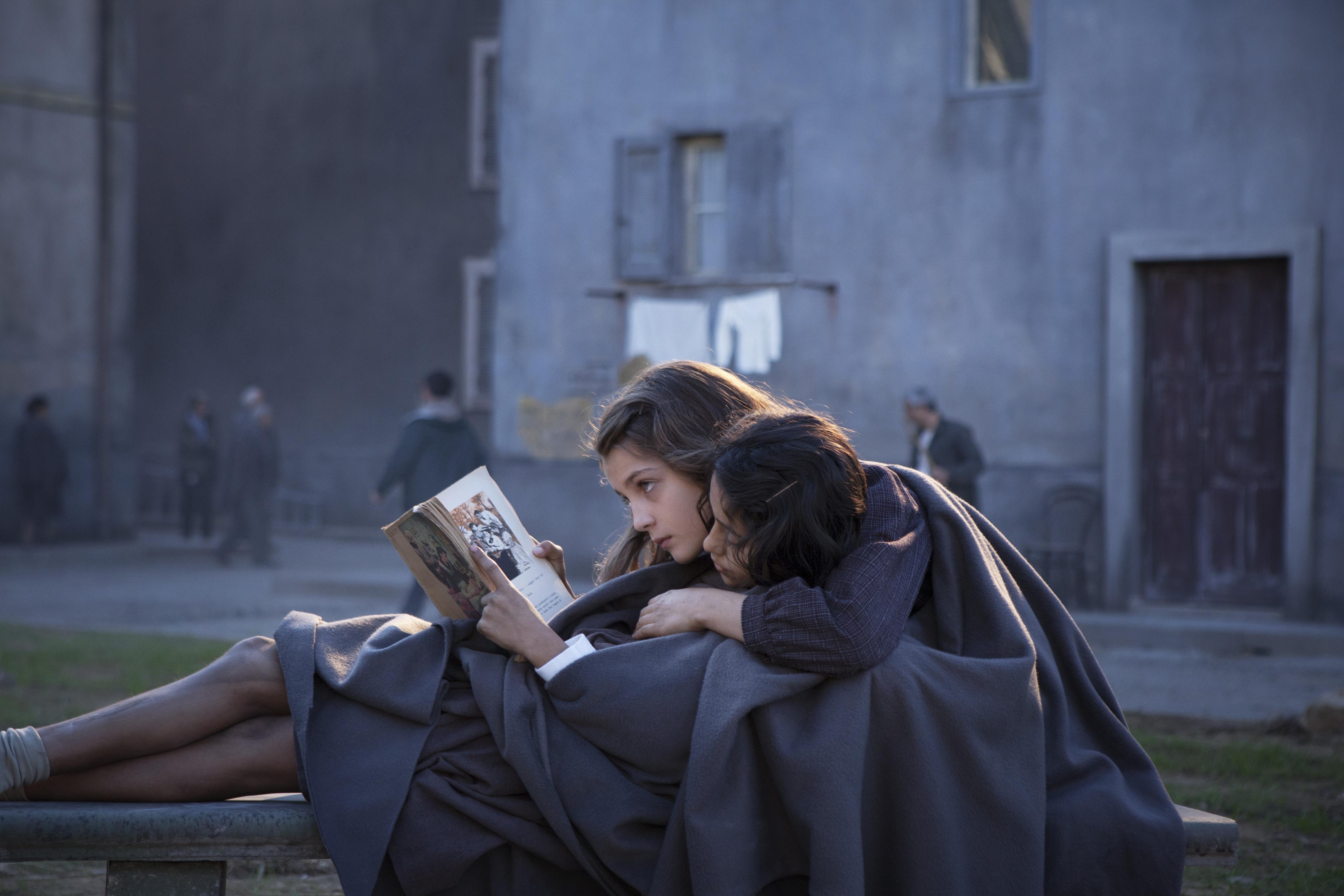 Elisa Del Genio as Elena and Ludovica Nasti as Lila in My Brilliant Friend
