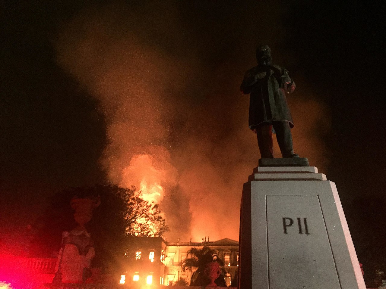 Fire at the National Museum of Brazil in Rio de Janeiro