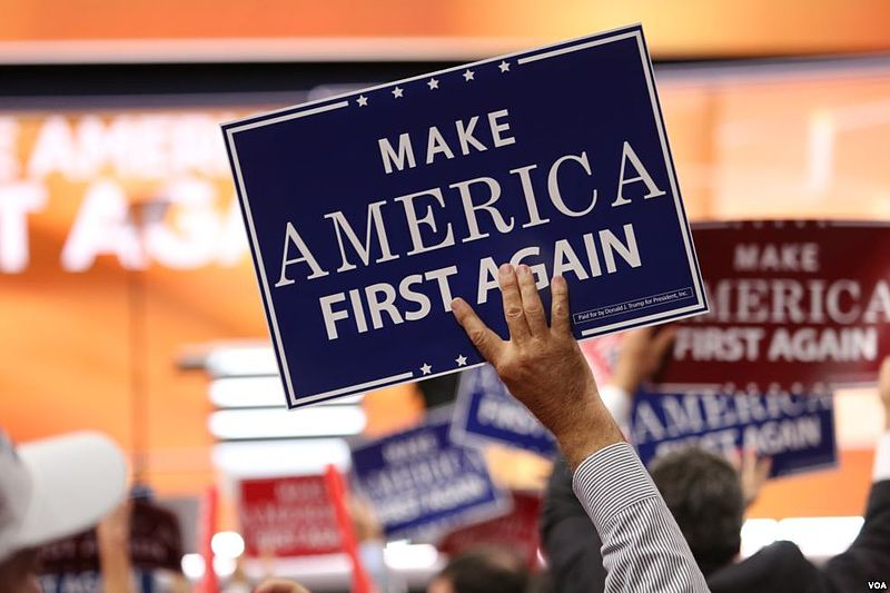 Make America First Again sign