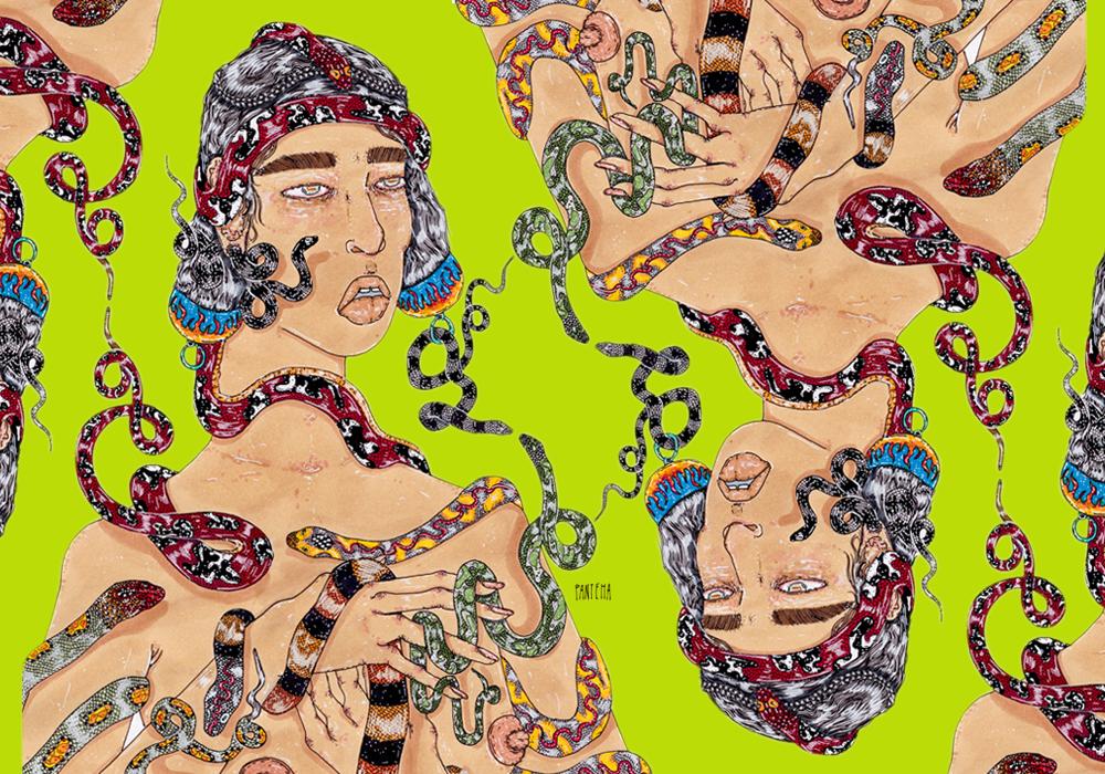 Native women illustration by Panteha Abareshi