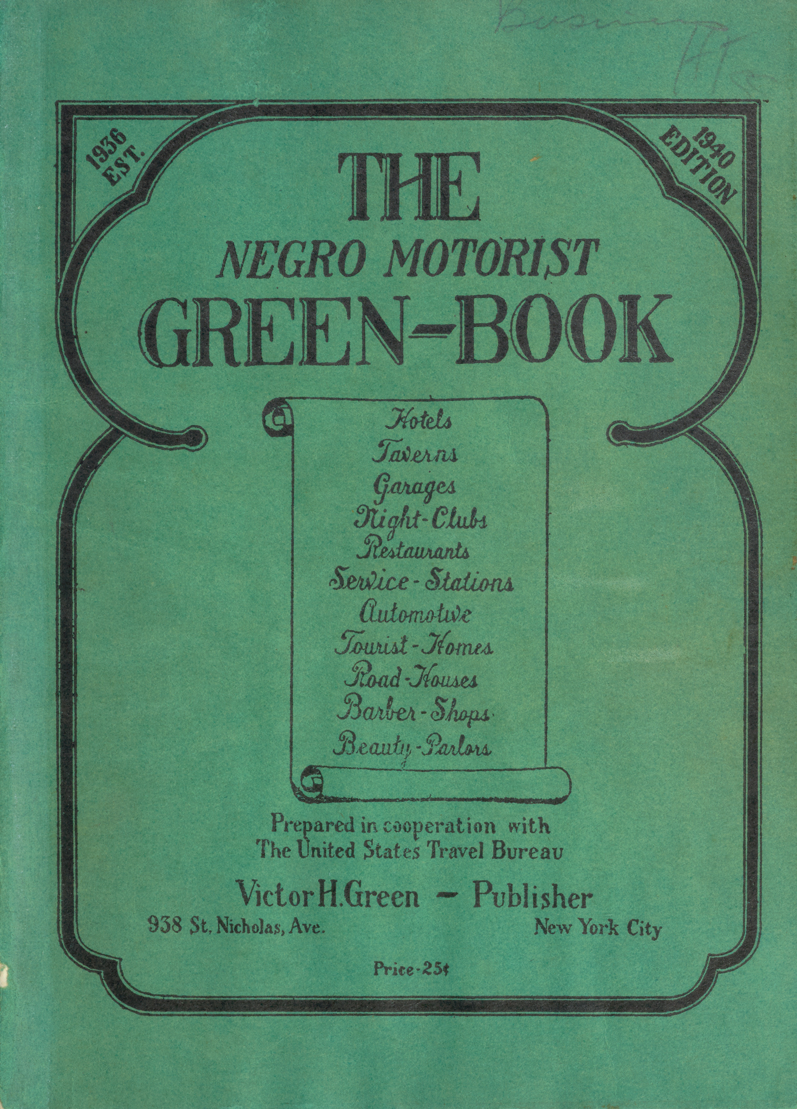 The Negro Motorist Green Book, 1940