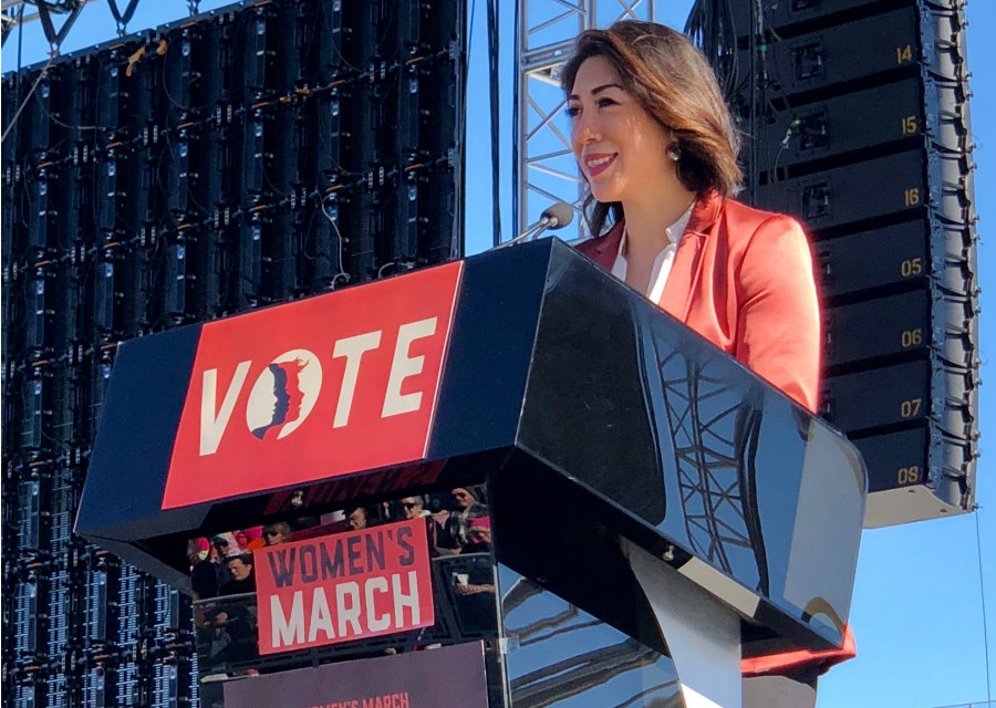 Paulette Jordan at the Women's March in Las Vegas