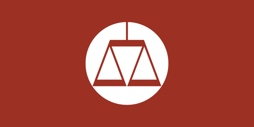 The SPLC logo against a red background showing an equally weighted scale