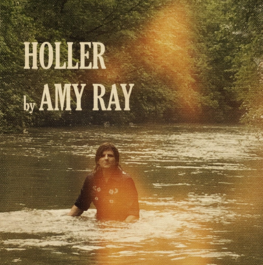 album cover shows fully-dressed white woman immersed in a river