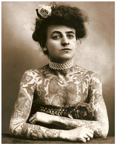 Maud Wagner-first known female tattoo artist